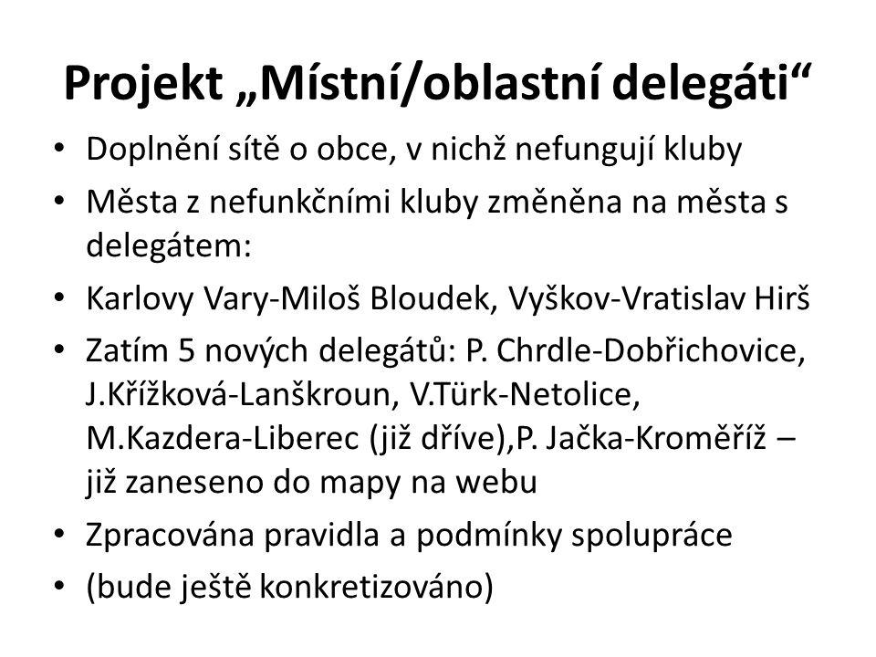 """Projekt """"Místní/oblastní delegáti"""
