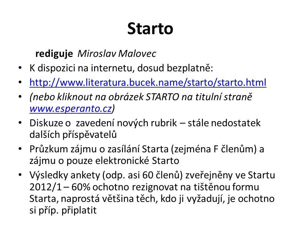 Starto rediguje Miroslav Malovec