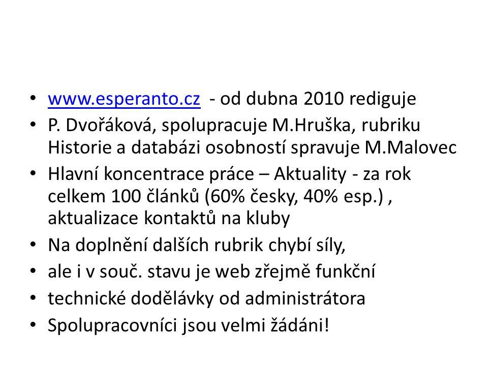 www.esperanto.cz - od dubna 2010 rediguje