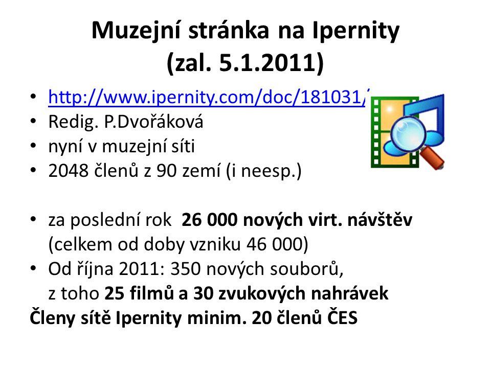 Muzejní stránka na Ipernity (zal. 5.1.2011)
