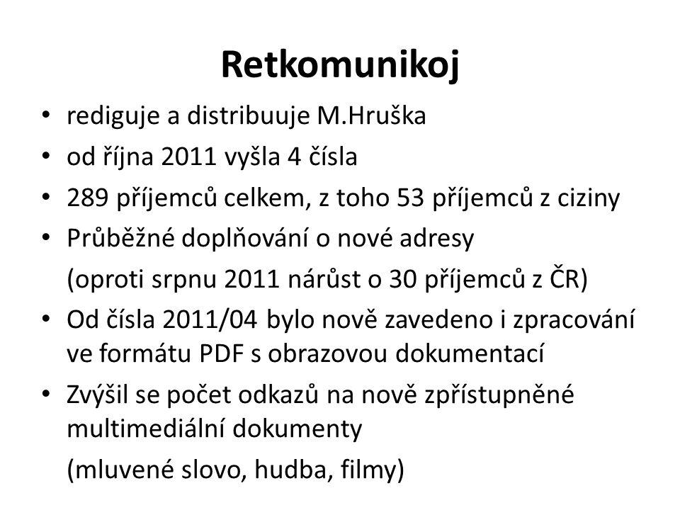 Retkomunikoj rediguje a distribuuje M.Hruška