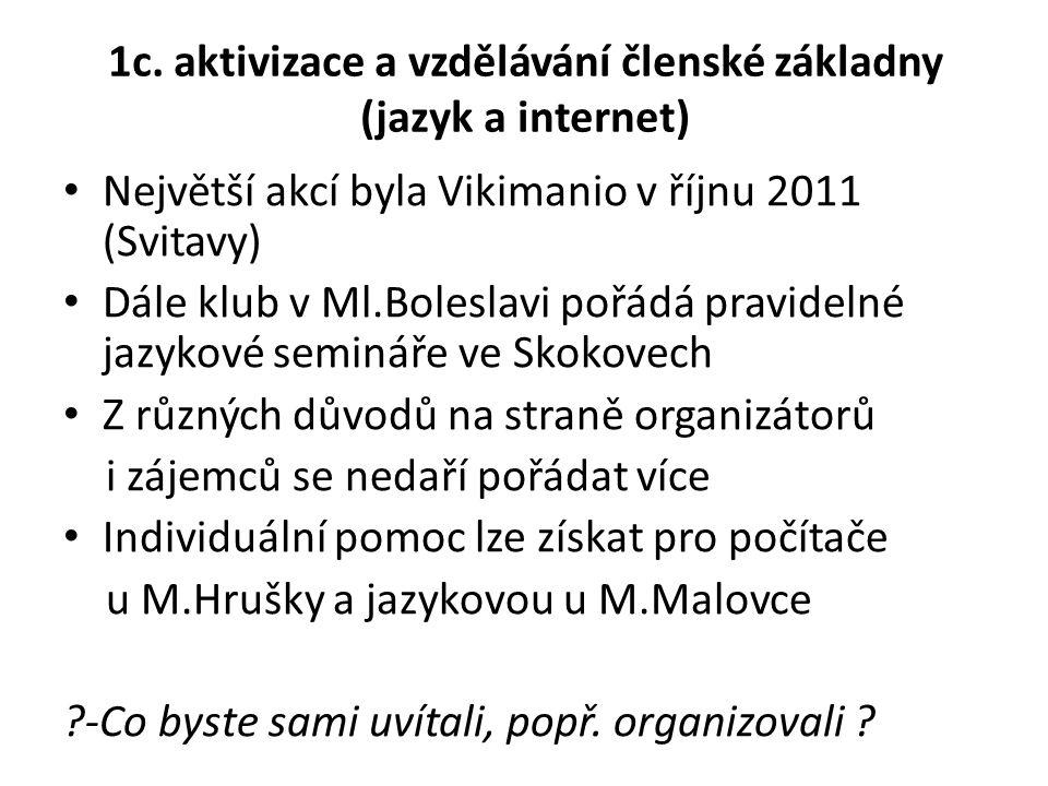 1c. aktivizace a vzdělávání členské základny (jazyk a internet)