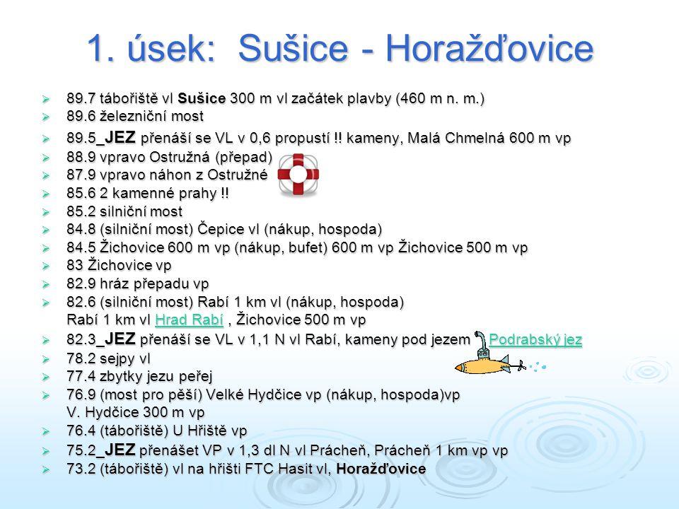 1. úsek: Sušice - Horažďovice