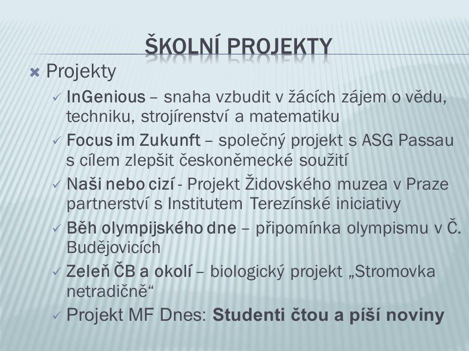 Školní projekty Projekty