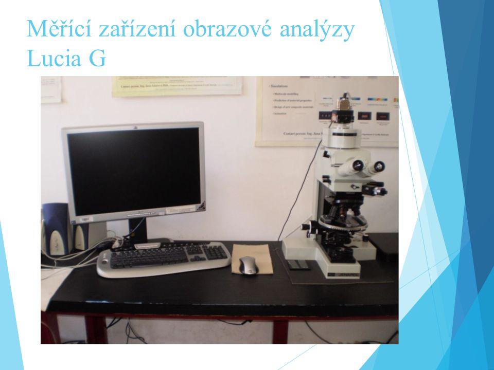Měřící zařízení obrazové analýzy Lucia G
