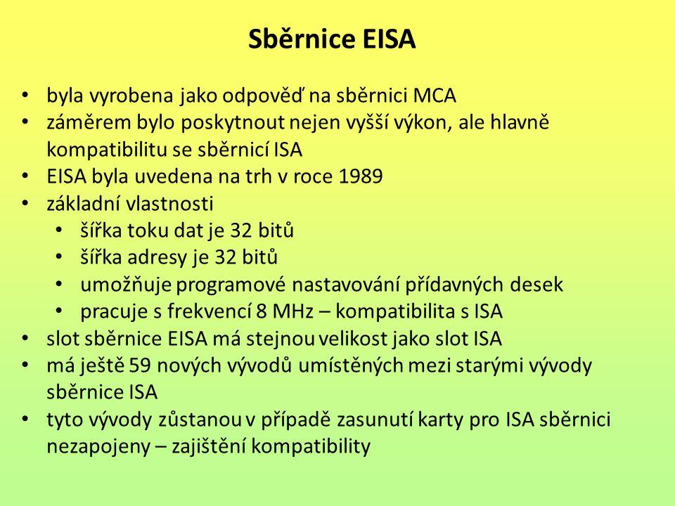 Sběrnice EISA byla vyrobena jako odpověď na sběrnici MCA