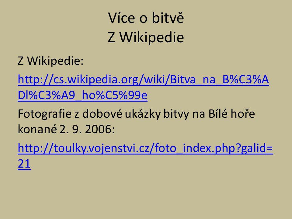 Více o bitvě Z Wikipedie