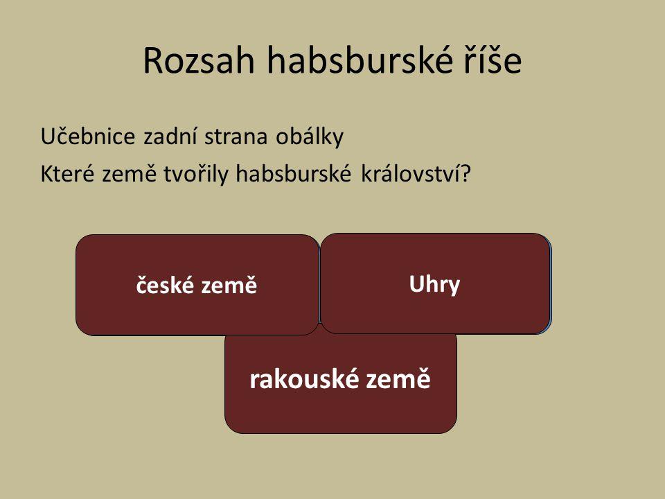Rozsah habsburské říše