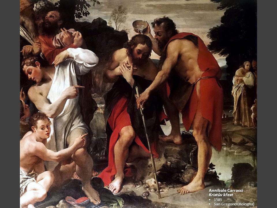 Annibale Carracci Kristův křest 1585 San Gregorio (Bologna)