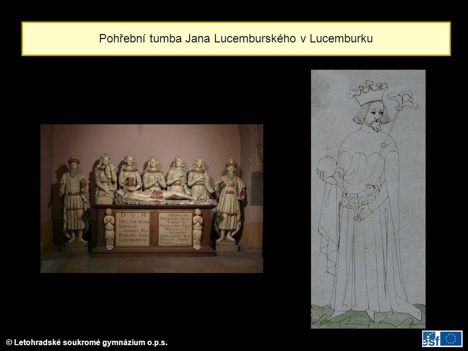 Pohřební tumba Jana Lucemburského v Lucemburku