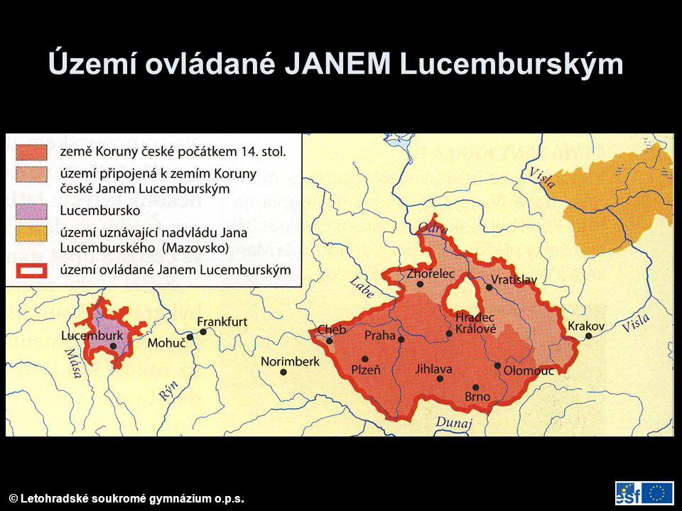 Území ovládané JANEM Lucemburským