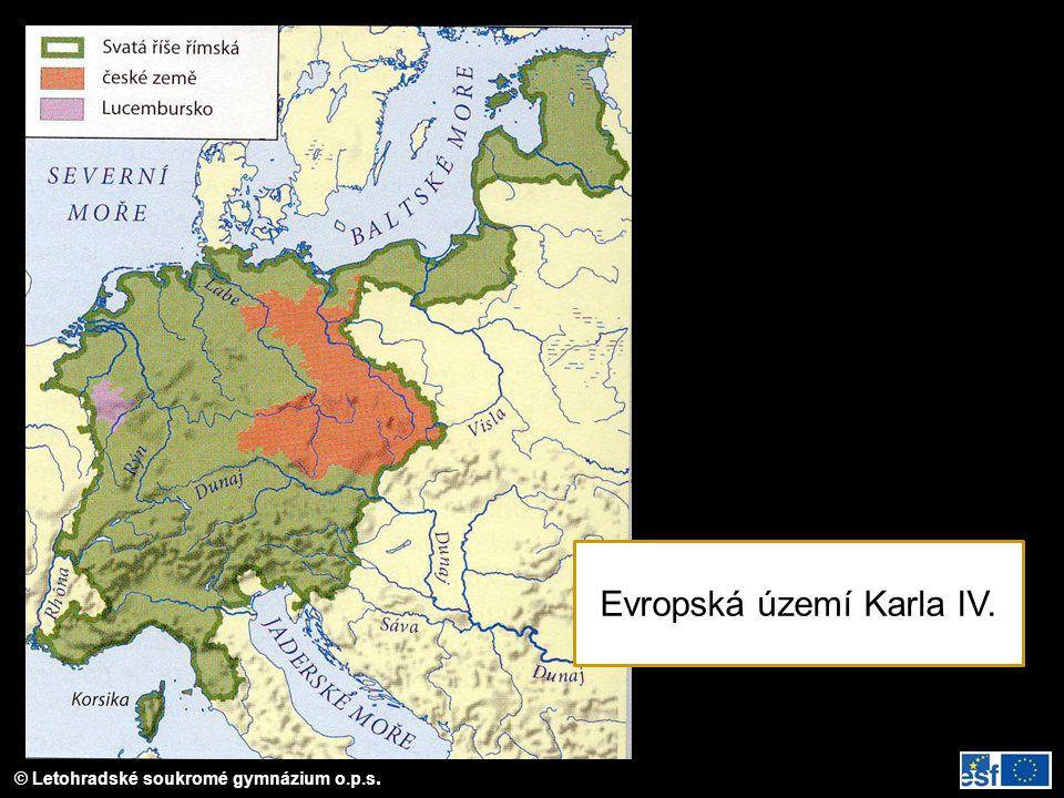 Evropská území Karla IV.