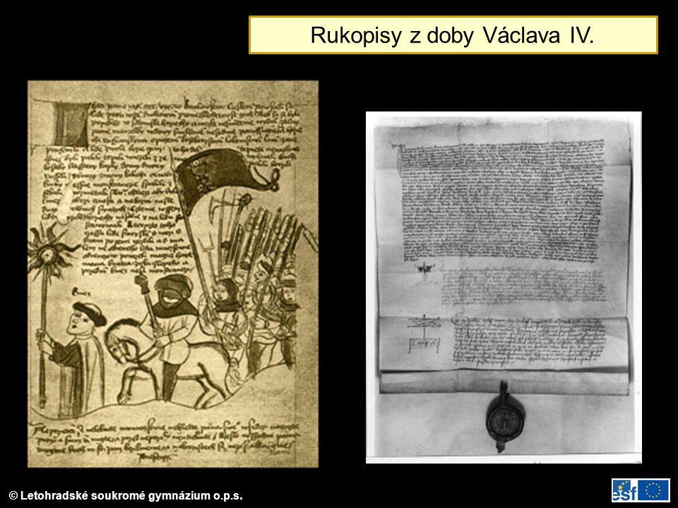 Rukopisy z doby Václava IV.