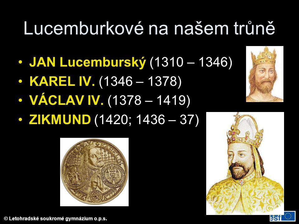 Lucemburkové na našem trůně