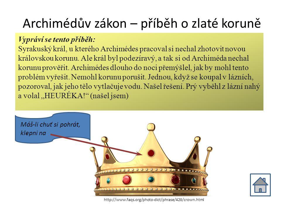 Archimédův zákon – příběh o zlaté koruně
