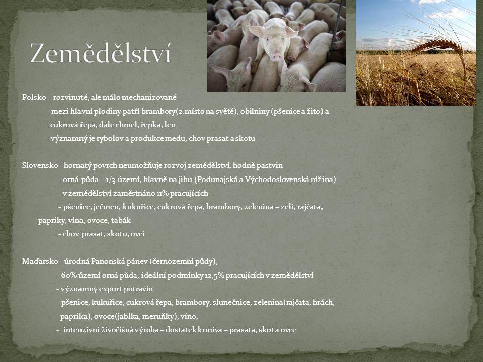 Zemědělství Polsko – rozvinuté, ale málo mechanizované