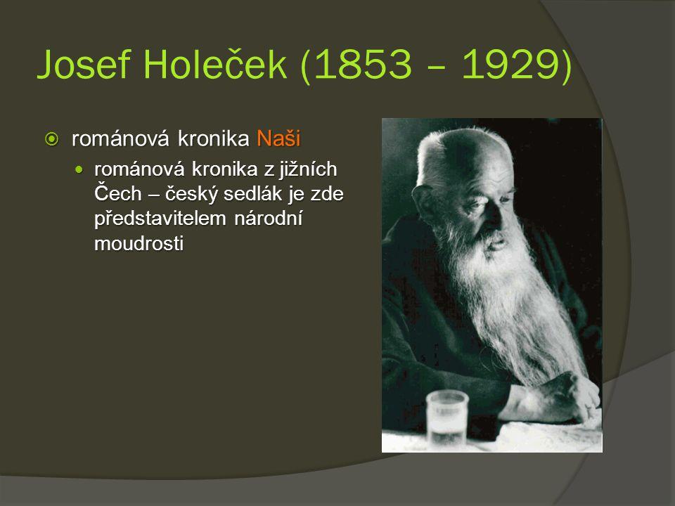 Josef Holeček (1853 – 1929) románová kronika Naši