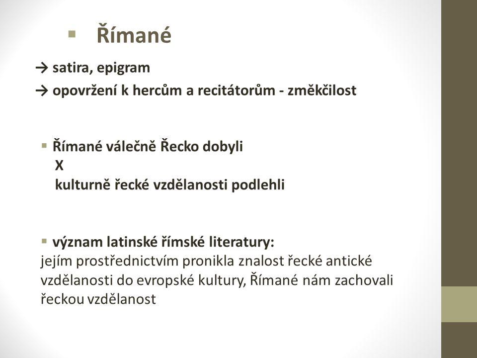 Římané → satira, epigram