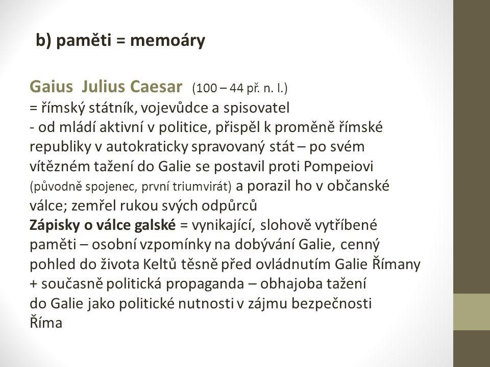 Gaius Julius Caesar (100 – 44 př. n. l.)