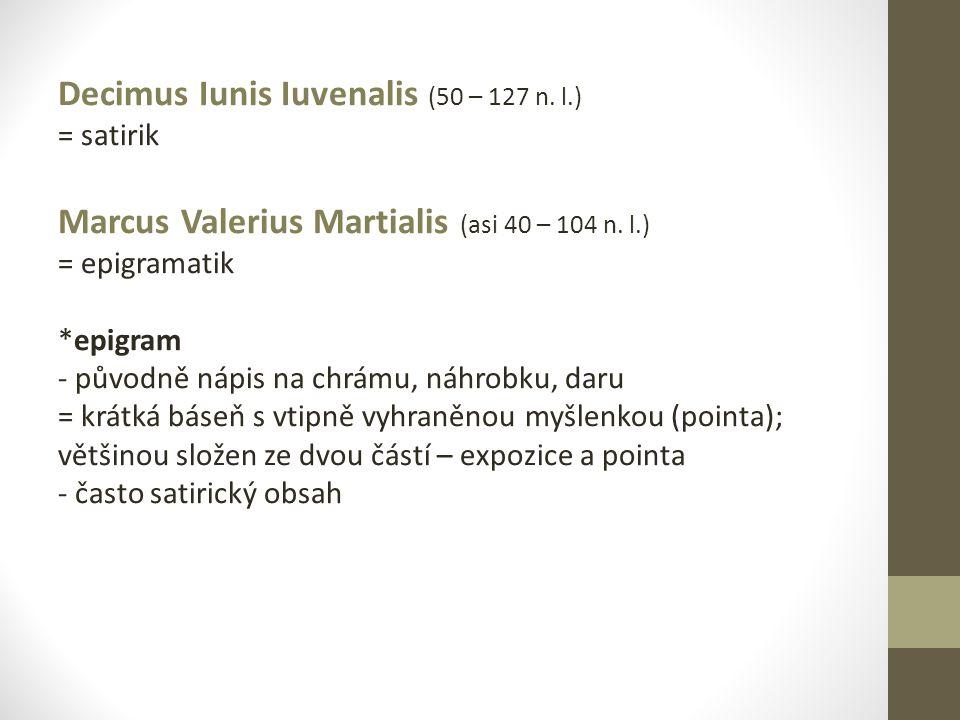 Decimus Iunis Iuvenalis (50 – 127 n. l.)