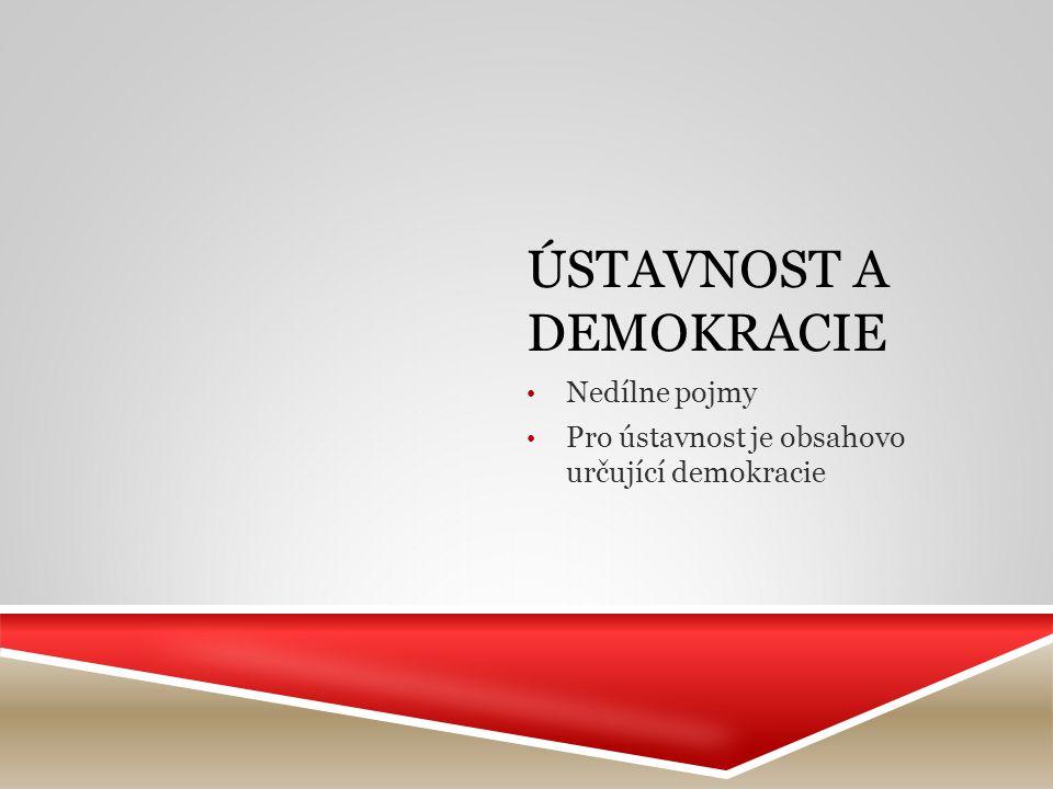 Ústavnost a demokracie
