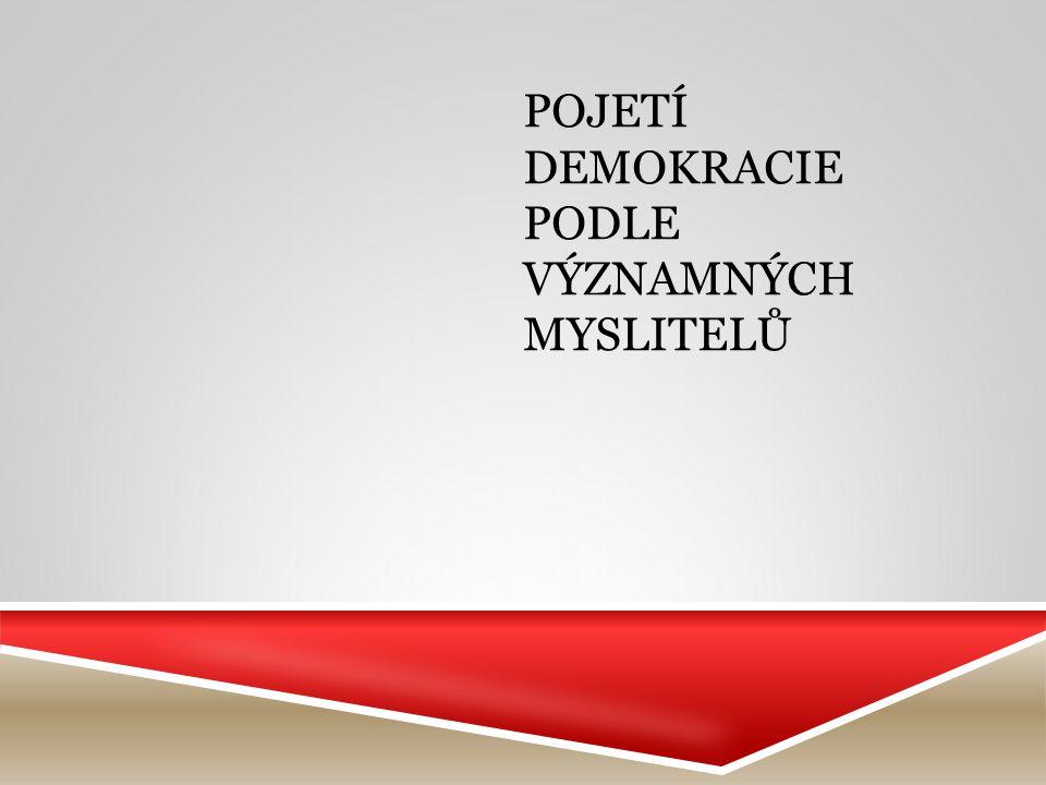 Pojetí demokracie podle významných myslitelů