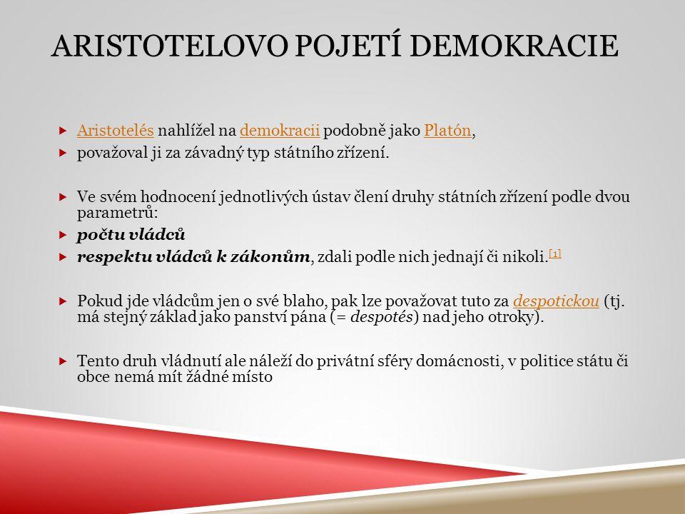Aristotelovo pojetí demokracie