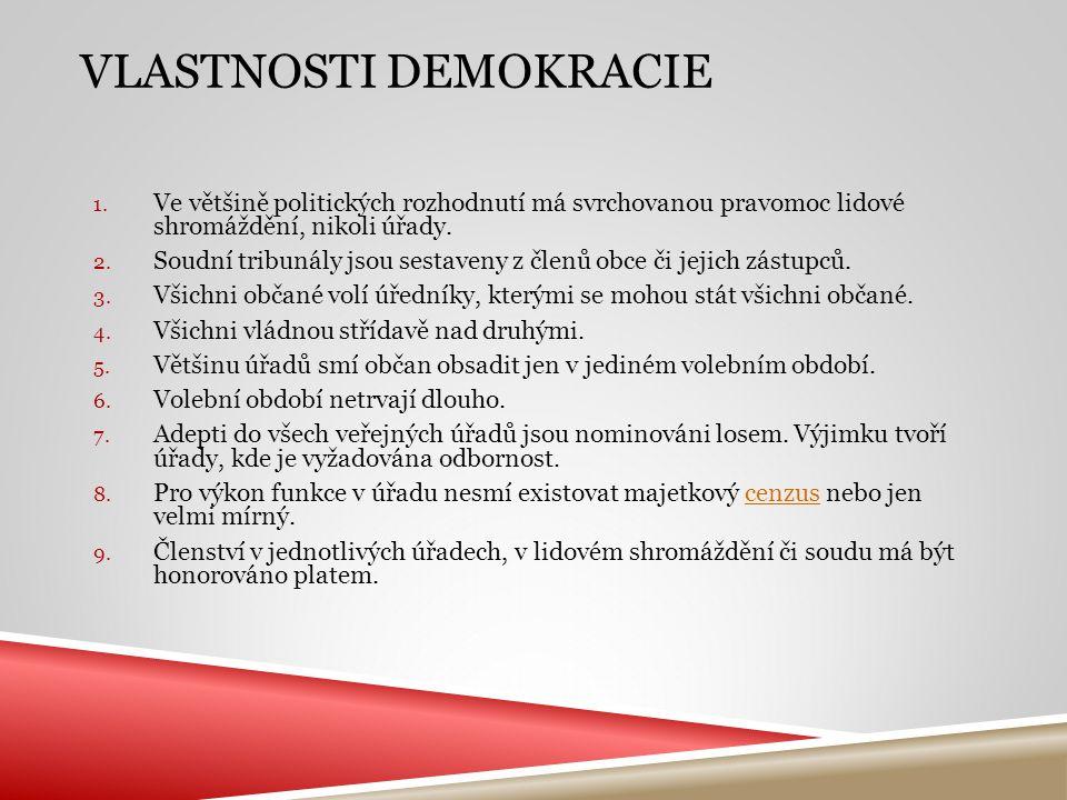 Vlastnosti demokracie
