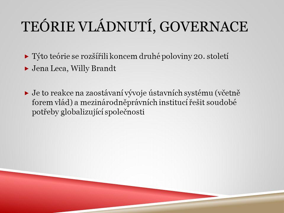 Teórie vládnutí, GOVERNACE