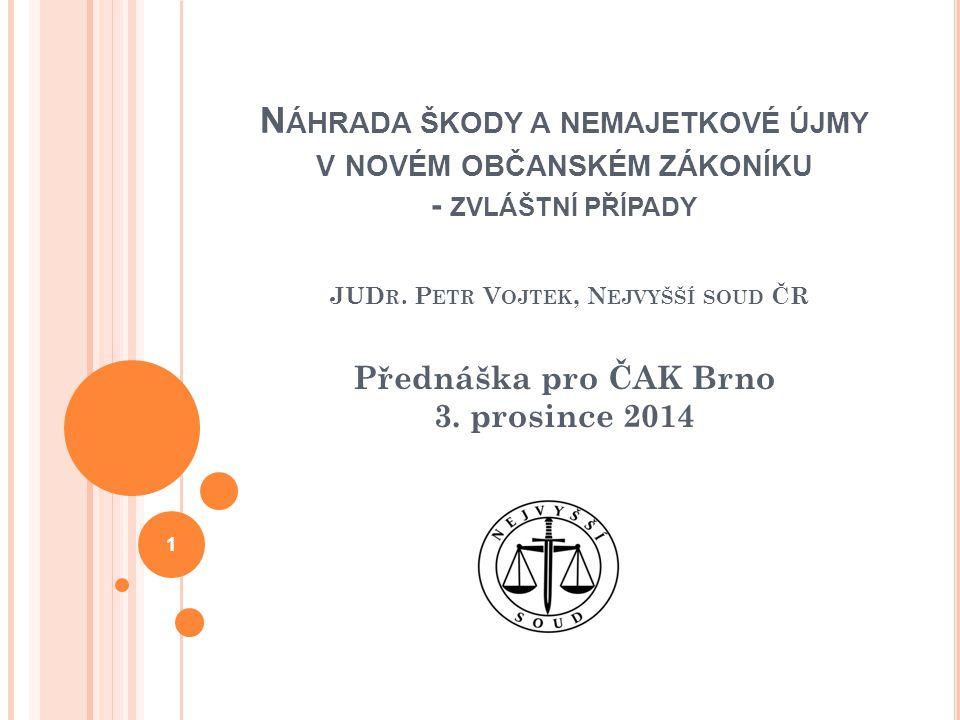 Přednáška pro ČAK Brno 3. prosince 2014