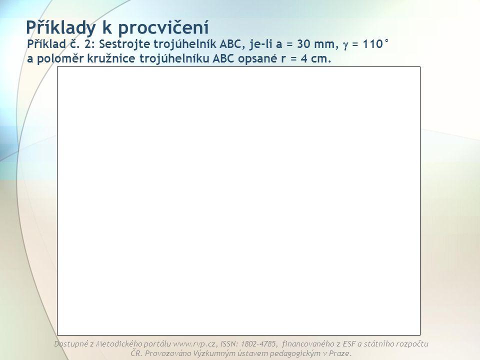 Příklady k procvičení Příklad č.