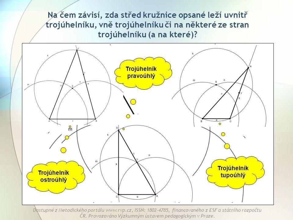Trojúhelník pravoúhlý Trojúhelník ostroúhlý