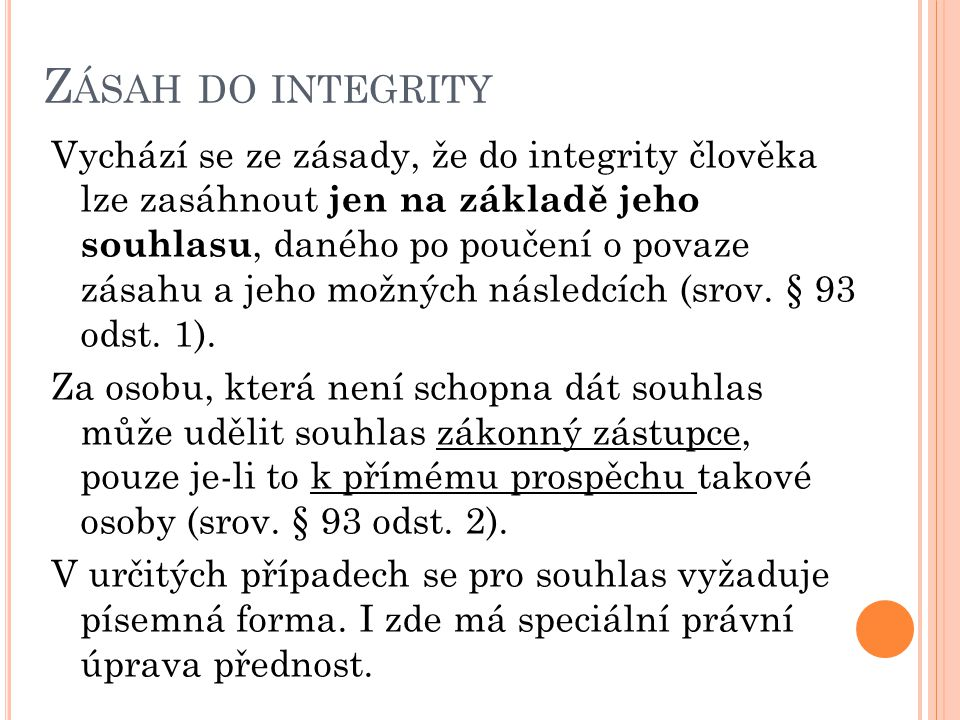 Zásah do integrity