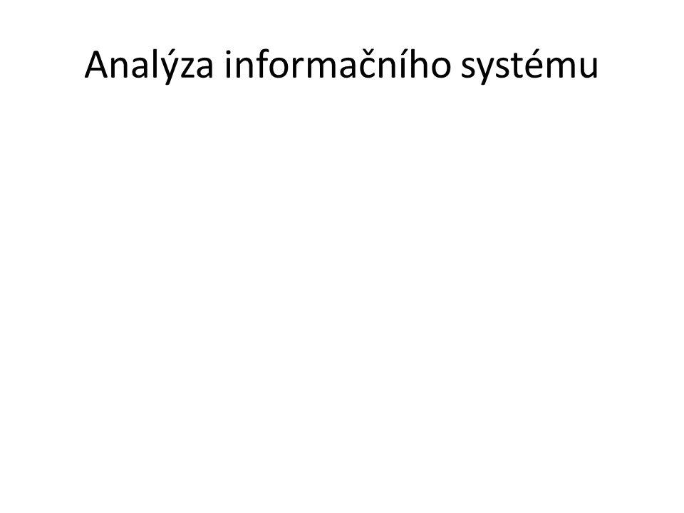 Analýza informačního systému