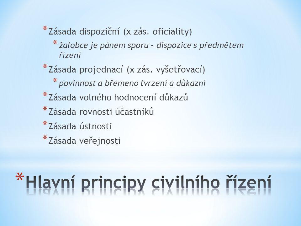 Hlavní principy civilního řízení