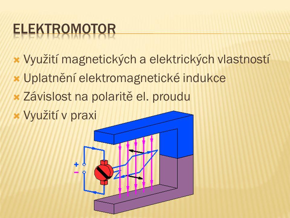 Elektromotor Využití magnetických a elektrických vlastností