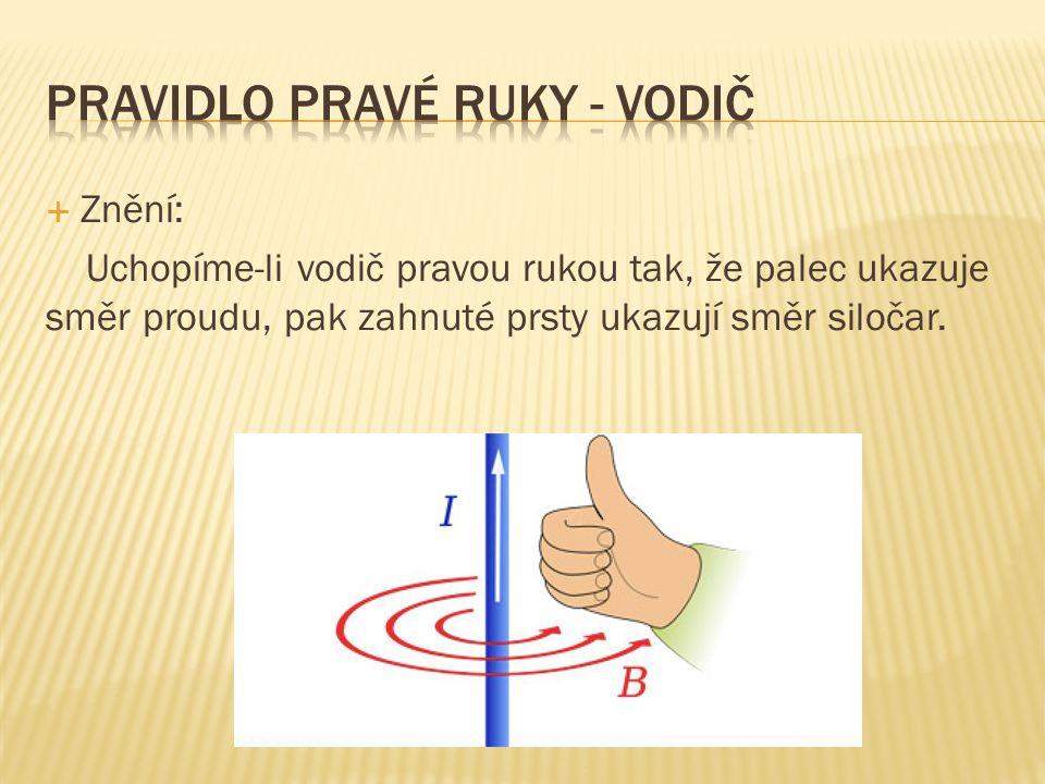 Pravidlo pravé ruky - vodič
