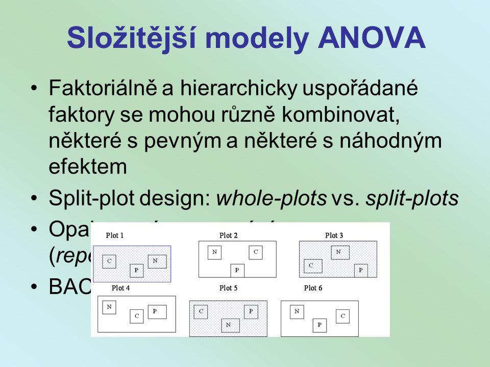 Složitější modely ANOVA