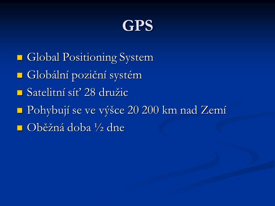 GPS Global Positioning System Globální poziční systém