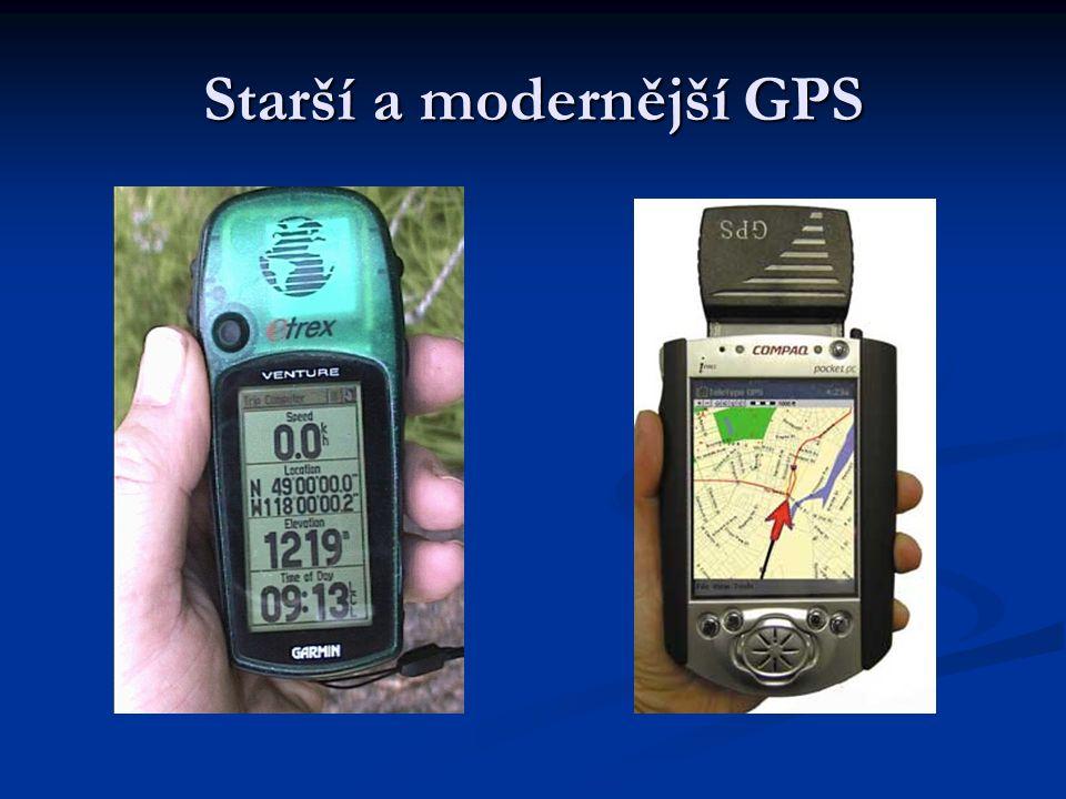 Starší a modernější GPS