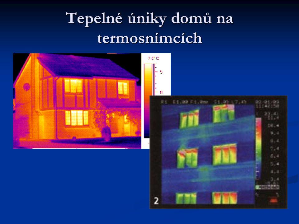 Tepelné úniky domů na termosnímcích