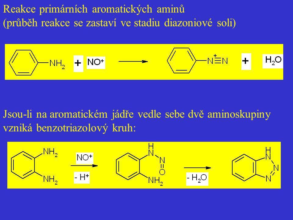 Reakce primárních aromatických aminů