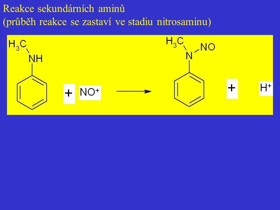 Reakce sekundárních aminů