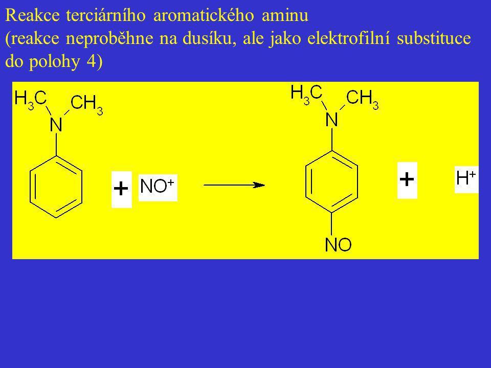 Reakce terciárního aromatického aminu