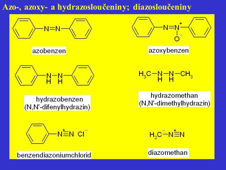 Azo-, azoxy- a hydrazosloučeniny; diazosloučeniny