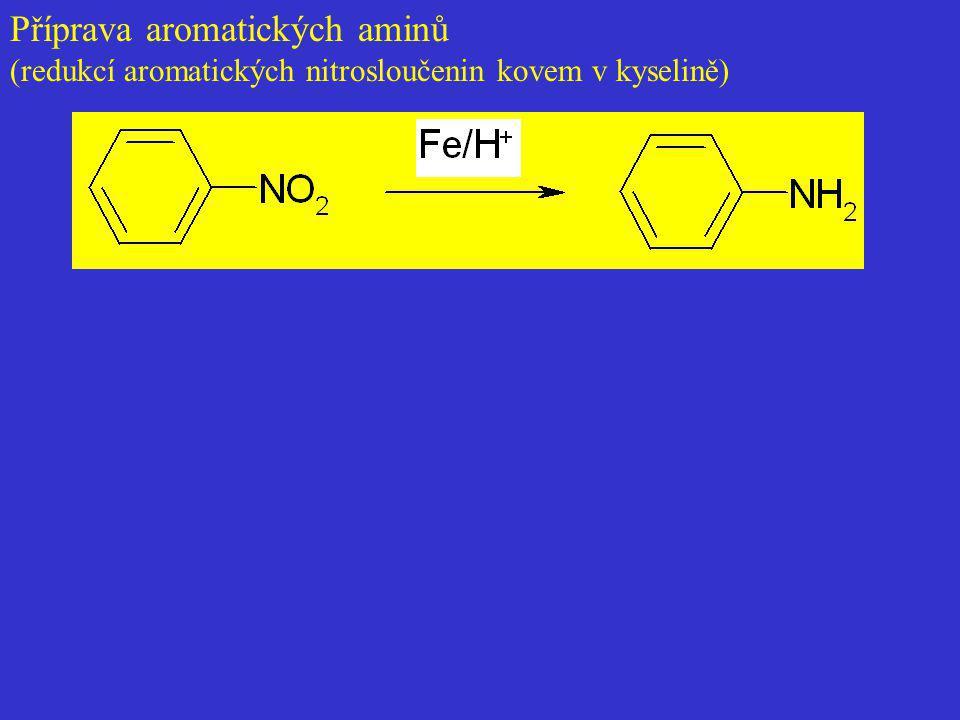 Příprava aromatických aminů