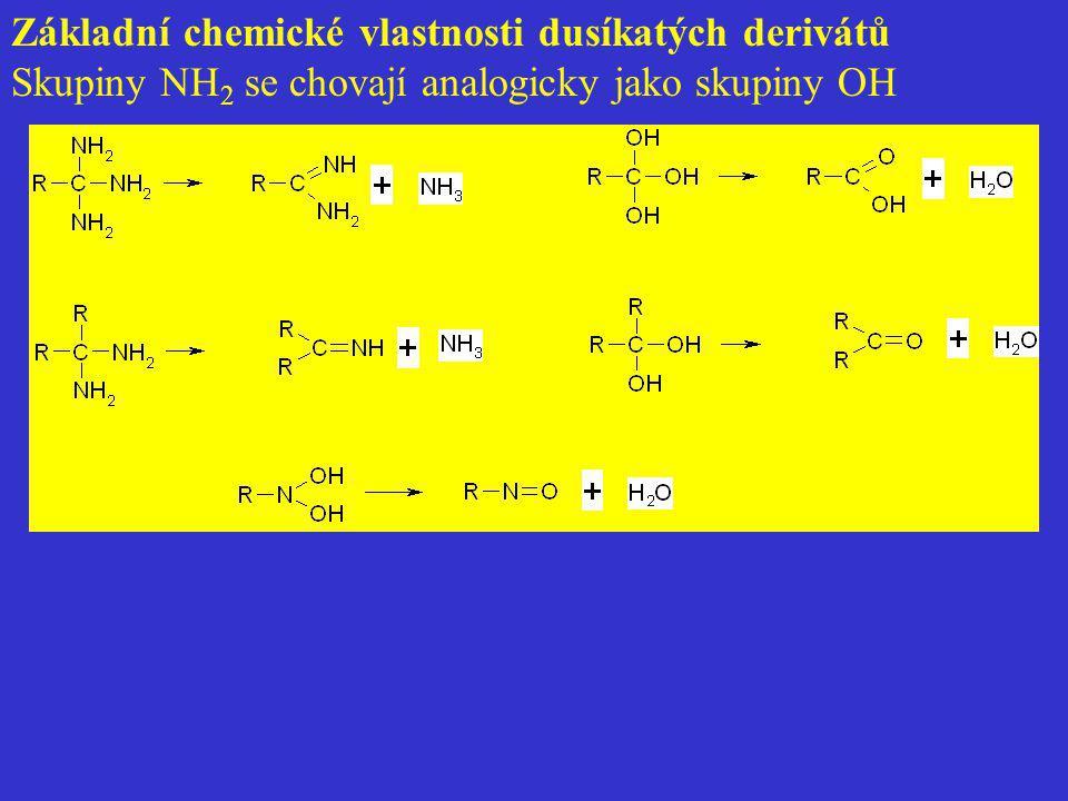 Základní chemické vlastnosti dusíkatých derivátů