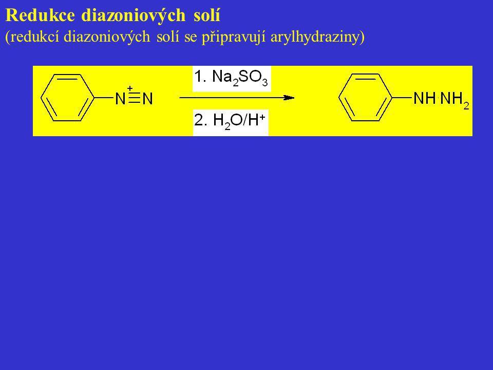 Redukce diazoniových solí