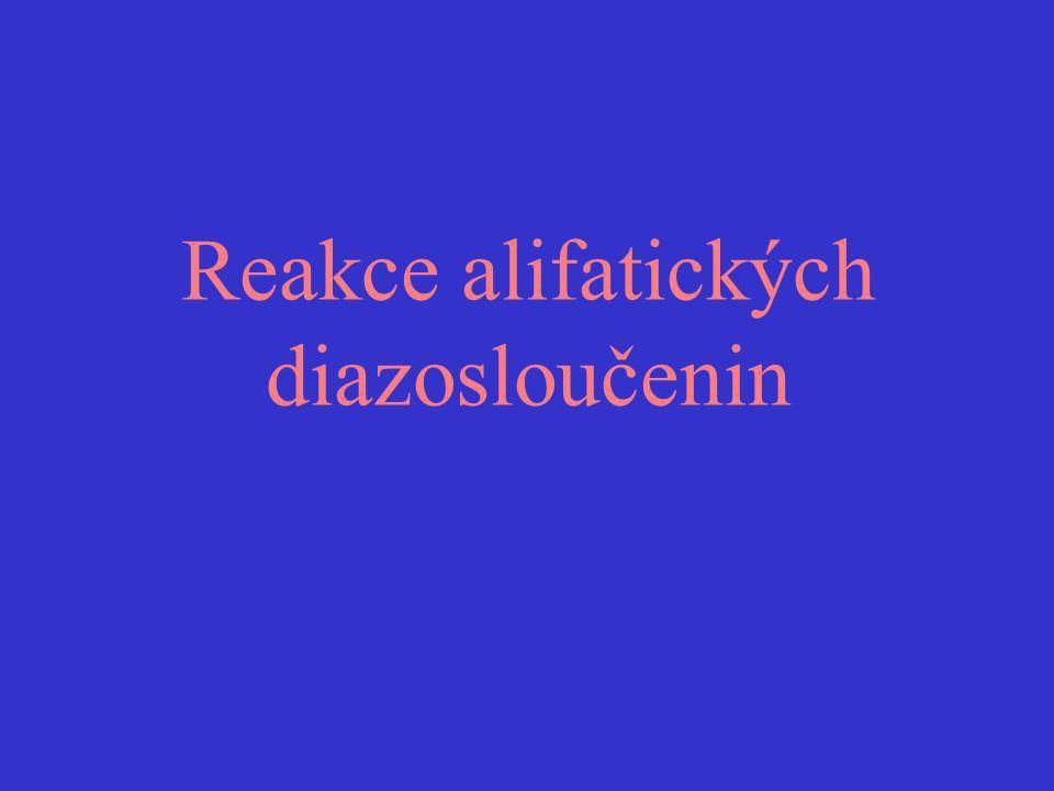 Reakce alifatických diazosloučenin