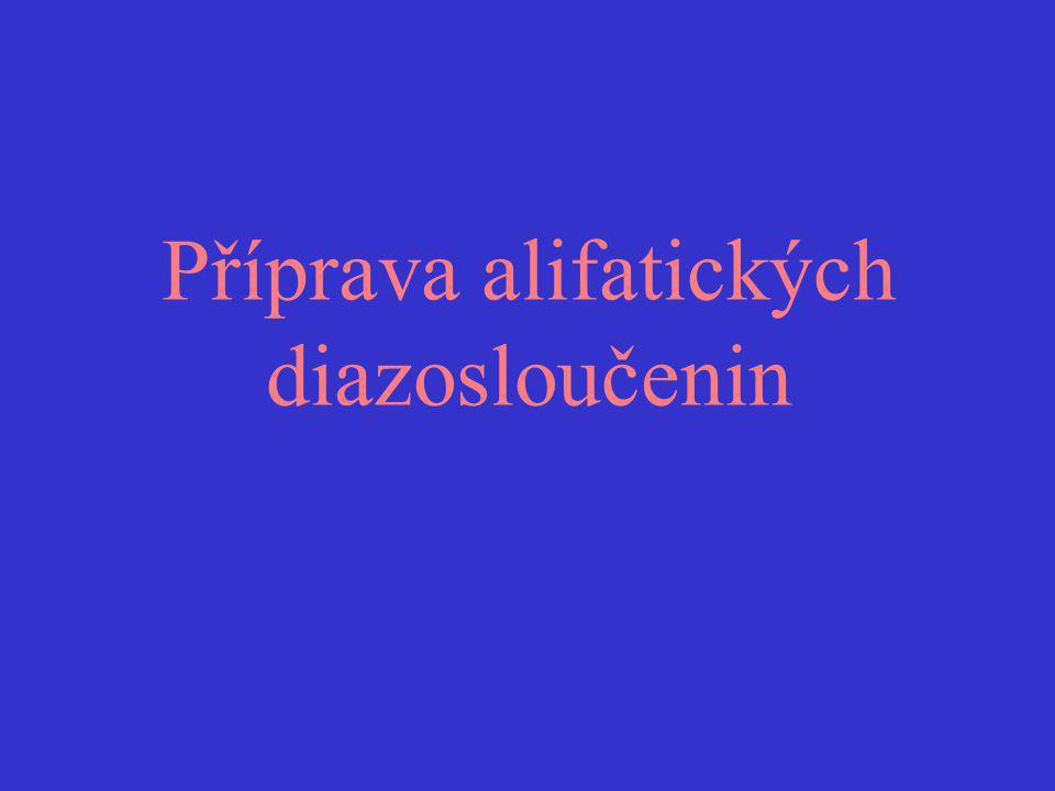 Příprava alifatických diazosloučenin